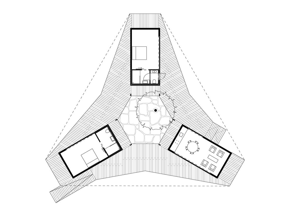 Element A_House with three verandas and a courtyard Senegal_plan